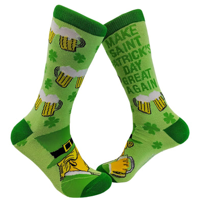 Make St. Patrick's Day Great Again Socks