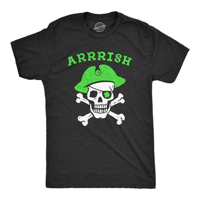 Mens Arrrish T Shirt Funny Saint Patricks Day Irish Pirate St Patty Humor Tee