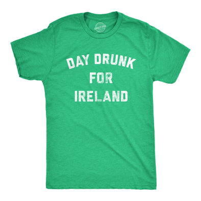 Mens Day Drunk For Ireland Tshirt Funny Irish Pride St Patricks Day Party Tee