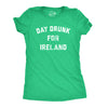 Womens Day Drunk For Ireland Tshirt Funny Irish Pride St Patricks Day Party Tee