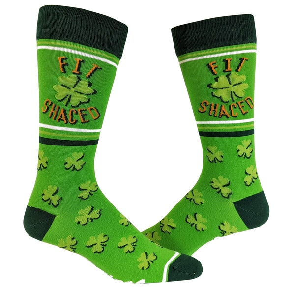 Fit Shaced Socks Funny St Patricks Day Irish Drinking Party Novelty