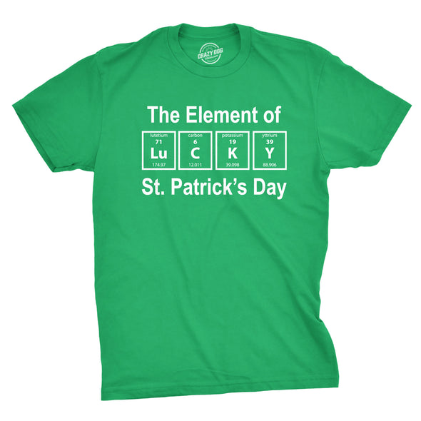The Element Of St. Patrick's Day Men's Tshirt