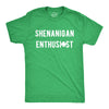 Mens Shenanigan Enthusiast Tshirt Funny St Patricks Day Party Novelty Tee