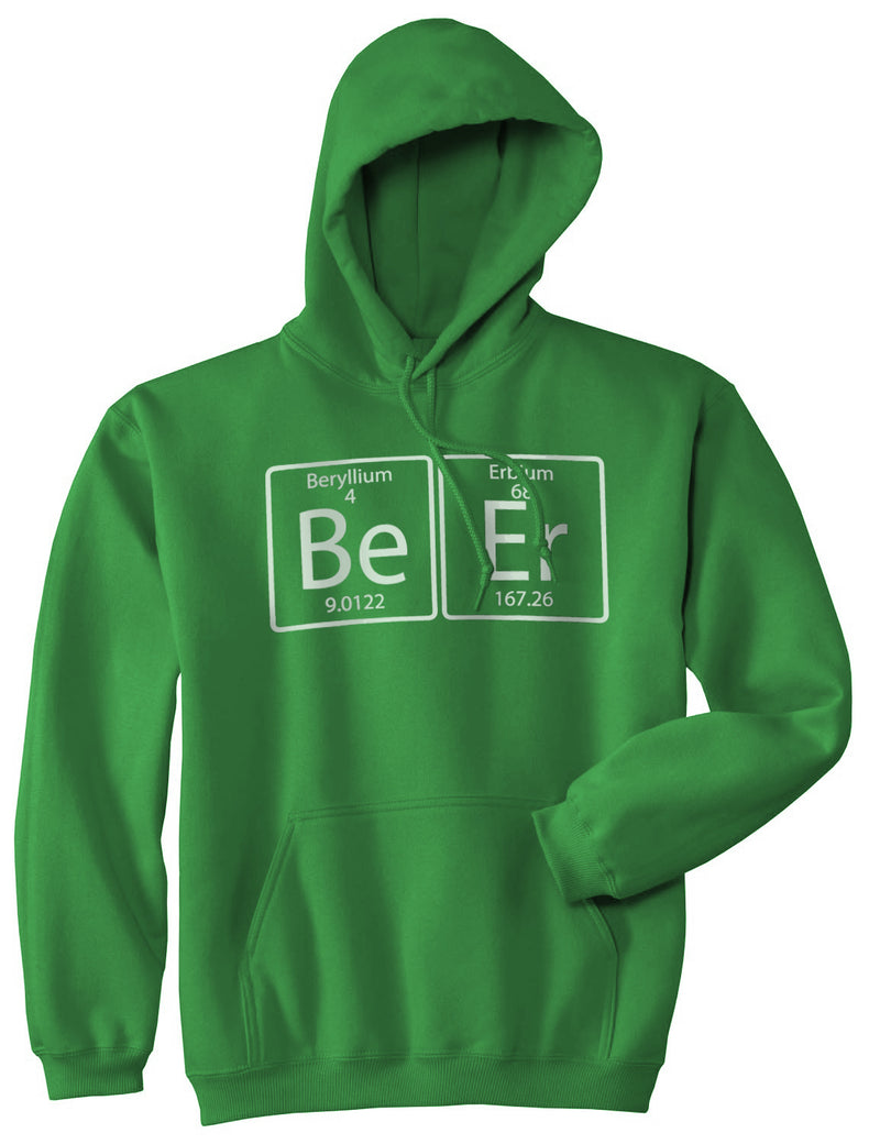 Unisex Element of Beer Hoodie Funny St Patricks Day Science Periodic Table Shirt