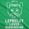 Leprecat Loves Shenanigans Men's Tshirt