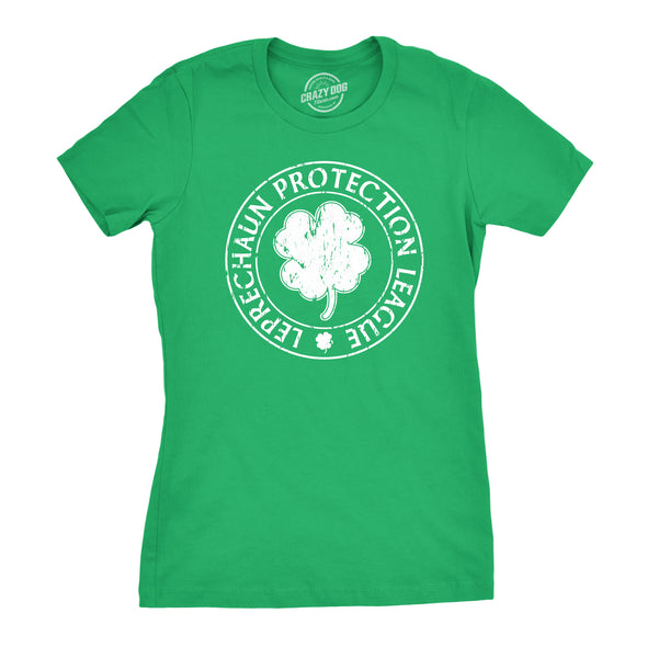 Leprechaun Protection League Women's Tshirt