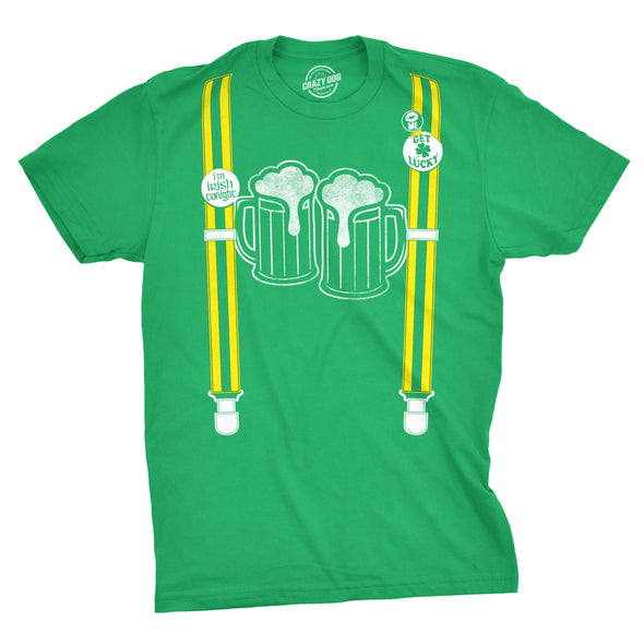 Suspenders Beer Mugs Men's Tshirt