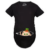 Peeking St. Pattie's Day Baby Maternity Tshirt