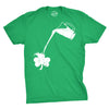 Pouring Shamrock Men's Tshirt