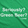 Seriously Green Beer Women's Tshirt