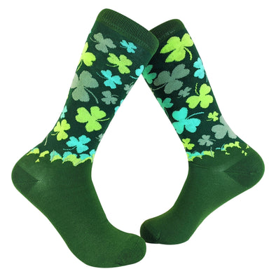 Lucky Shamrock Socks Funny St Patricks Day Irish Novelty Crazy Fun
