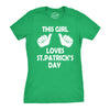 This Girl Loves St. Patrick's Day Women's Tshirt