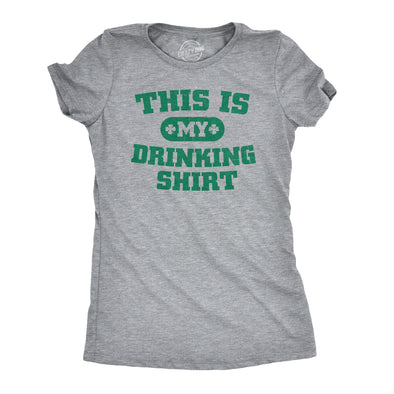 Womens This is my Drinking T Shirt Funny Party Saint Patricks Day St Patty Tee