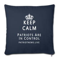"Patriot News ""Keep Calm"" Throw Pillow Cover 18"" x 18"" - navy"