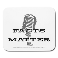"Patriot News ""Facts Matter"" Mouse pad Horizontal - white"
