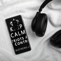 "Patriot News ""Keep Calm"" Samsung Phone case w/ White lettering - clear case"