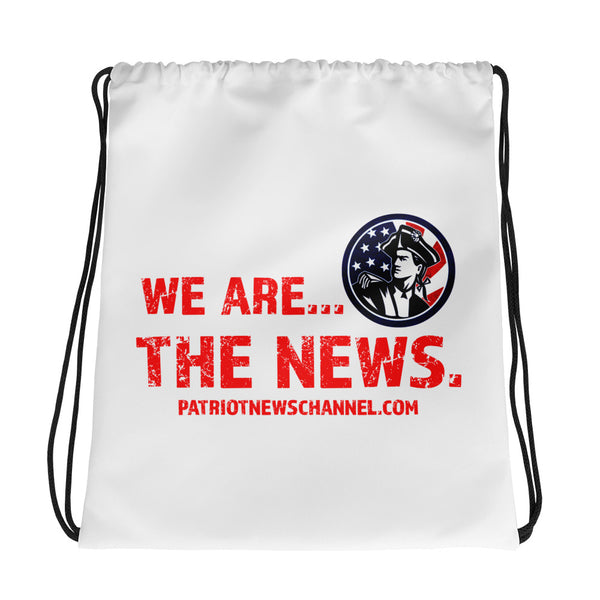 "Drawstring bag - ""We are the news"""