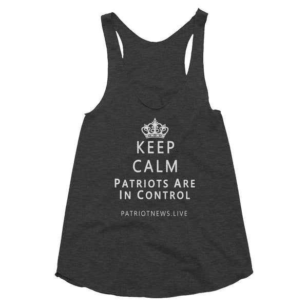 "Patriot News ""Keep Calm"" American Apparel TR308W Women's Tri-Blend Racerback Tank"