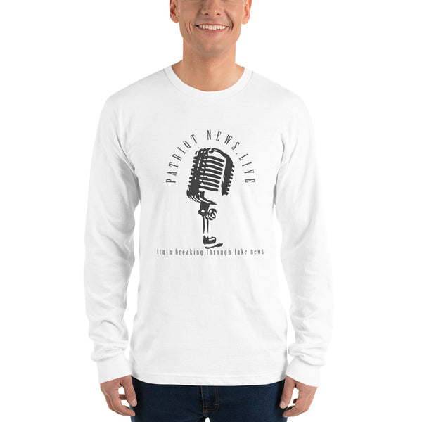 "Patriot News ""Black Mic"" American Apparel Long Sleeve"
