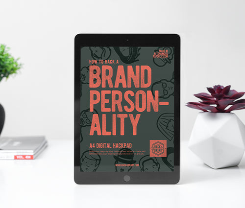 Brand Personality Digital hack notepad on an iPad
