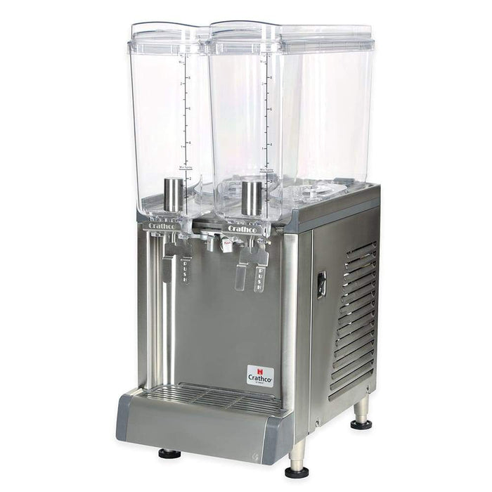 Crathco CS-2E-16 Refrigerated Drink Dispenser w/ (2) 2 2/5 gal Bowls