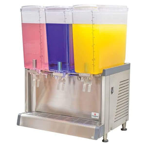 Crathco CS-3L-16-S Refrigerated Drink Dispenser w/ (3) 4 3/4 gal Bowls, Pre Mix