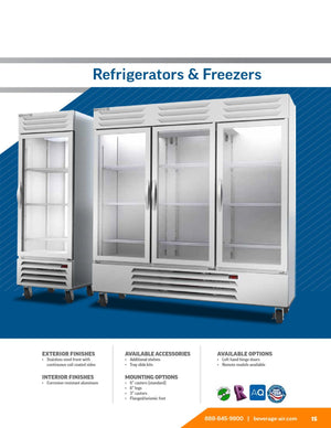 Beverage Air RB72HC-1G Vista Series 75 inch Three Section Solid Door Reach in Refrigerator - 72 Cu. Ft. - Summit Restaurant Supply