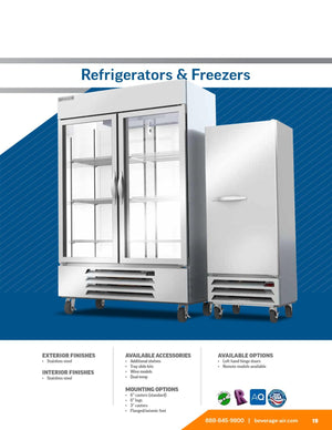 "Beverage Air HBR49HC-1  Horizon Series 52"" Stainless Steel Refrigerator - Summit Restaurant Supply"