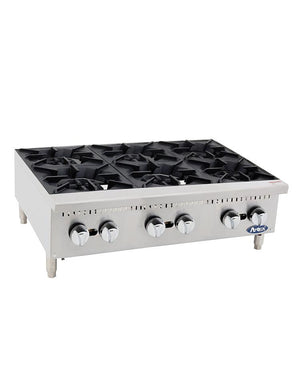 "Atosa ATHP-36-6  36"" Countertop Six Burner Hot Plate - Summit Restaurant Supply"