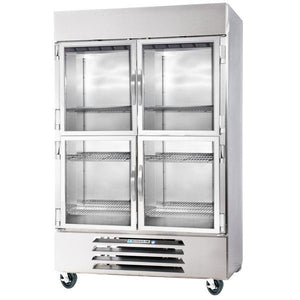 "Beverage Air HBR49HC-1-HG  Horizon Series 52"" Stainless Steel Refrigerator Half Glass Doors - Summit Restaurant Supply"