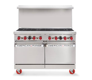 "American Range AR8 48"" 8 Burner Gas Range, NG - Summit Restaurant Supply"