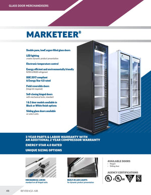 Beverage Air MT12-1W Marketeer™ Series 25 Inch Refrigerated Merchandiser