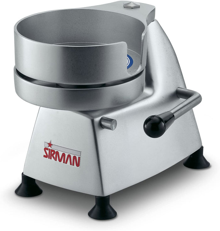 "Sirman SA 130 5"" Diameter Manual Hamburger Patty Press"