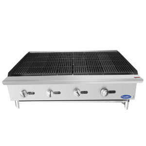 "Atosa ATCB-48 48"" Char-Rock Broiler with Total 140,000 btu's"