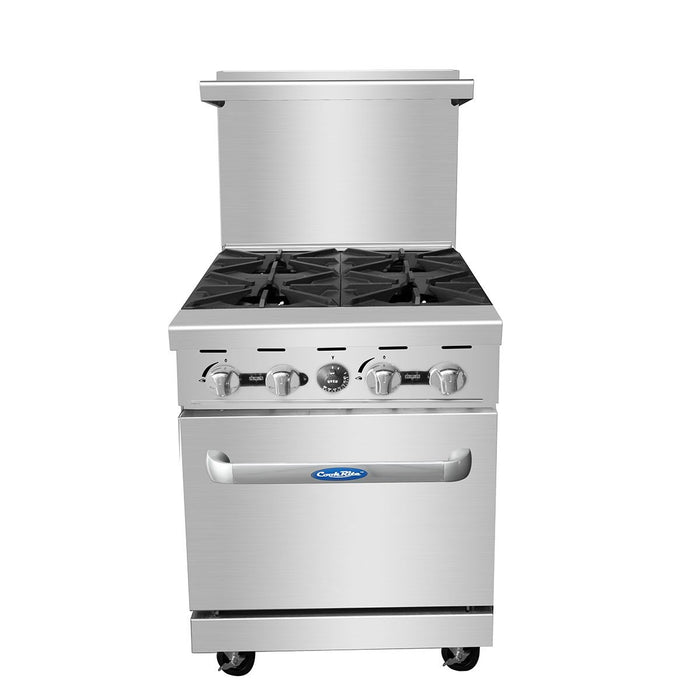 "Atosa ATO-4B 24"" Commercial Gas Range with 4 Burners and 20"" Wide Oven"