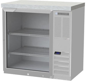 Beverage Air BB36HC-1-G-S-27 Back Bar Refrigerator with 2 inch stainless top - Summit Restaurant Supply