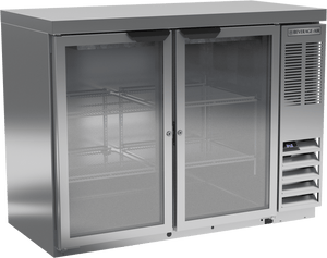 Beverage Air BB48HC-1-G-S-27 Back Bar Refrigerator Glass Door - Summit Restaurant Supply