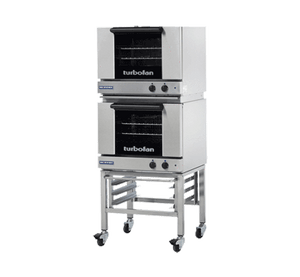 Turbofan E22M3/2C Half Size Sheet Pan Manual Electric Convection Ovens Double Stacked - Summit Restaurant Supply