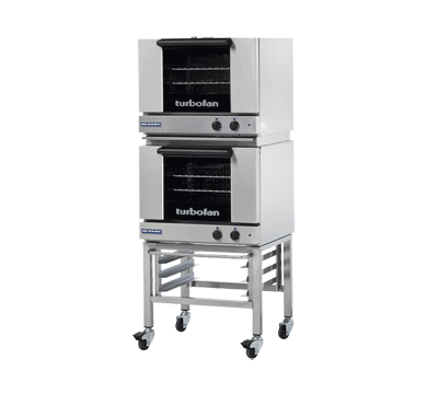 Turbofan E22M3/2C Half Size Sheet Pan Manual Electric Convection Ovens Double Stacked