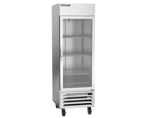 "Beverage Air HBF23HC-1-G  Horizon Series 27"" Stainless Steel Freezer Glass Door - Summit Restaurant Supply"