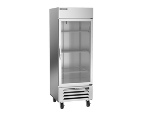 "Beverage Air HBF27-1-G  Horizon Series 30"" Stainless Steel Freezer Glass Door - Summit Restaurant Supply"