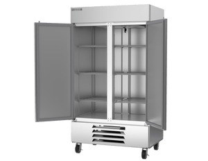 "Beverage Air HBF44-1-S  Horizon Series 47"" Stainless Steel Freezer Solid Door - Summit Restaurant Supply"