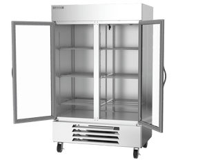 "Beverage Air HBF49-1-G  Horizon Series 52"" Stainless Steel Freezer Glass Doors - Summit Restaurant Supply"