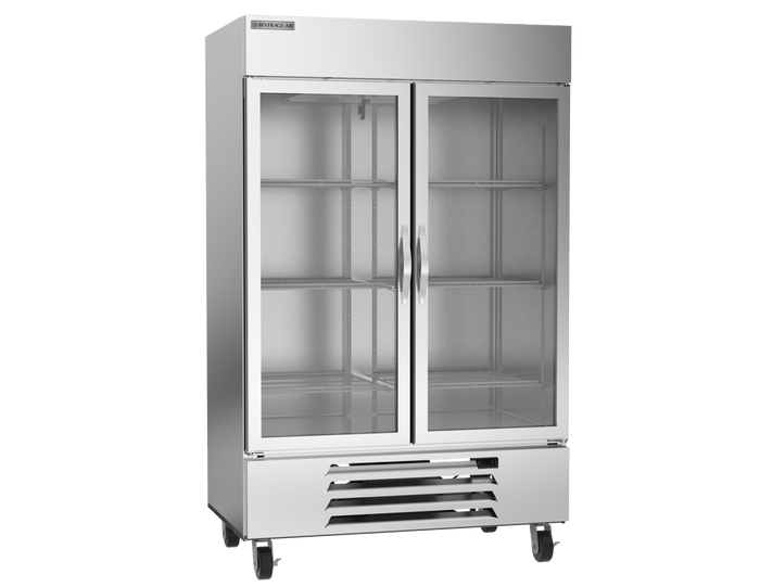 "Beverage Air HBF49-1-G  Horizon Series 52"" Stainless Steel Freezer Glass Doors"