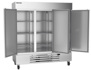 "Beverage Air HBF72-1-S  Horizon Series 75"" 3 Door Stainless Steel Freezer - Summit Restaurant Supply"