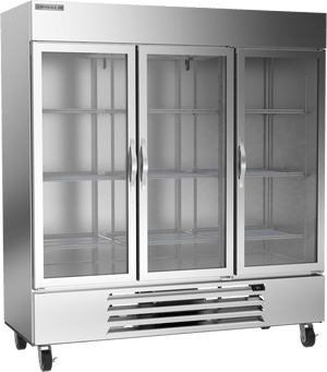 "Beverage Air HBF72-5-G  Horizon Series 75"" 3 Glass Door Freezer - Summit Restaurant Supply"