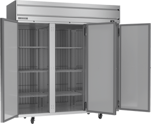 Beverage-Air HFP3-5S Horizon Series Three Section Solid Door Reach-In Freezer - Summit Restaurant Supply
