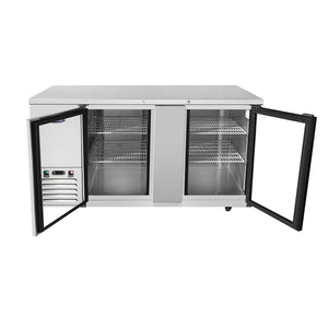 Atosa MBB69G Back Bar Cooler with Glass Doors