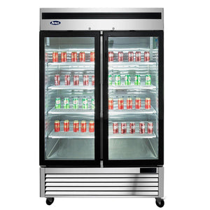 Atosa MCF8703 Merchandiser Freezer Bottom Mount (2) Glass Doors