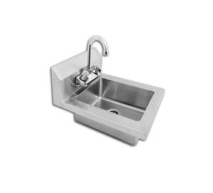 Atosa MRS-HS-14 Hand Sink; Bowl Size 10x12x5: Faucet Included